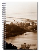 Holland Michigan Harbor Big Red Aerial Photo Spiral Notebook