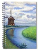 Holland Windmill Bike Path Spiral Notebook