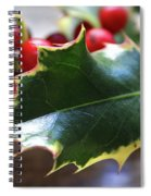 Holly Berries- Photograph By Linda Woods Spiral Notebook