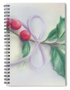 Holly Sprig With Bow Spiral Notebook