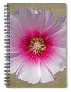 Hollyhock On Linen 2 Spiral Notebook