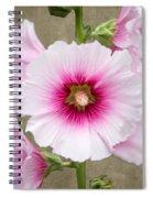 Hollyhock On Linen Spiral Notebook