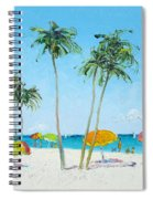 Hollywood Beach Florida And Coconut Palms Spiral Notebook