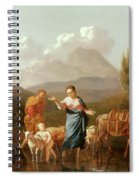Holy Family At A Stream Spiral Notebook