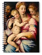 Holy Family With Saint John The Baptist Spiral Notebook
