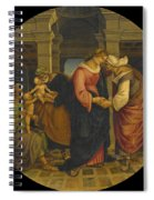 Holy Family With Saints John Elisabeth And Zacharias Spiral Notebook
