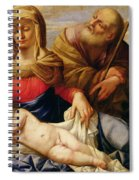 Holy Family With Two Female Figures Spiral Notebook
