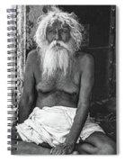 Holy Man 2 Bw Spiral Notebook
