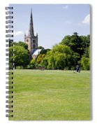 Holy Trinity Church At Stratford Upon Avon Spiral Notebook