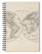Homalographic World Map  Spiral Notebook