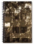 Mcleod Plantation Home In Black And White Spiral Notebook