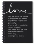 Home Blessing Black And White- Art By Linda Woods Spiral Notebook