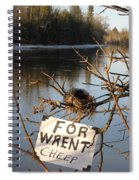 Home By Water For Wrent Cheep Spiral Notebook