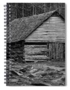 Home In The Woods Bw Spiral Notebook