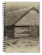 Home In The Woods Sepia Spiral Notebook