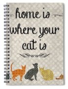 Home Is Where Your Cat Is-jp3040 Spiral Notebook