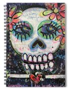 Home Is Wherever I Am With You An Abstract Skull Painting About Love Spiral Notebook
