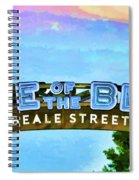 Home Of The Blues - Beale Street Spiral Notebook