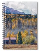 Home On The Gore Range Spiral Notebook