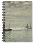 Home On The Morning Tide Spiral Notebook