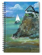 Home Overlooking The Sea Spiral Notebook