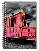 Home Pink Home Black And White Spiral Notebook