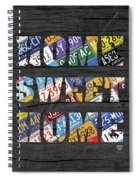 Home Sweet Home Rustic Vintage License Plate Lettering Sign Art Spiral Notebook