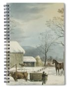 Home To Home To Thanksgiving, 1867 Spiral Notebook