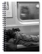 Homeless In Motion In Black And White Spiral Notebook