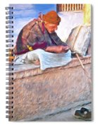 Homeless Man In India Spiral Notebook