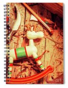 Homemade Christmas Toy Spiral Notebook