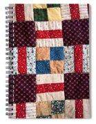 Homemade Quilt Spiral Notebook