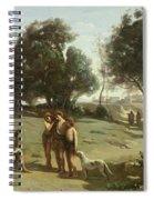 Homer And The Shepherds In A Landscape Spiral Notebook