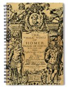 Homer Title Page, 1616 Spiral Notebook