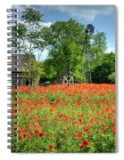 Homestead In The Poppies Spiral Notebook