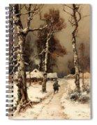 Homeward Through The Winter Forest Spiral Notebook