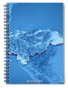 Honduras Country 3d Render Topographic Map Blue Border Spiral Notebook