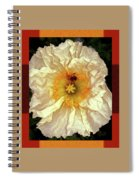 Honey Bee In Stunning White And Gold Flower Spiral Notebook