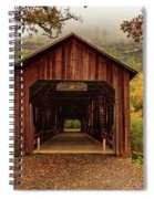 Honey Run Covered Bridge In Autumn Spiral Notebook