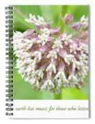 Honeybee And Milkweed Flowers Spiral Notebook