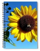 Honeybee On A Sunflower Spiral Notebook
