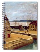 Honfleur  Houses On The Quay Spiral Notebook