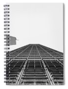 Hong Kong Building Black And White Spiral Notebook