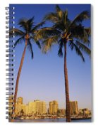 Honolulu And Palms Spiral Notebook