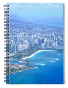 Honolulu And Waikiki From The Air Spiral Notebook