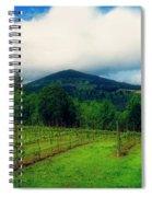 Hood River Oregon - Cloud Burst Over The Vineyard Spiral Notebook