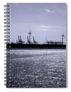 Hook Of Holland Shipping Canal Spiral Notebook