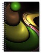 Hookah Smoking Caterpillar  Spiral Notebook