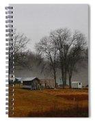 Hooker Road In The Fog 1 Spiral Notebook