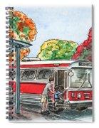 Hop On A Bus Spiral Notebook